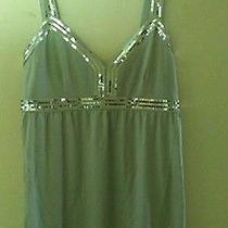 Like New/express/sz Small/polished Silver W Sequin Top Photo