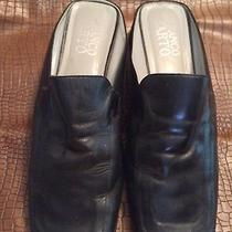 Like New Gorgeous Franco Sarto Black Leather Mules 11 M Photo