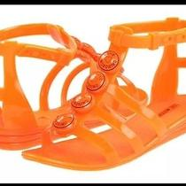 Like New in Box Love Moschino Orange Jelly Sandals 36 6 150 Photo