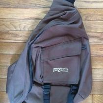 Like New Jansport One Strap/sling Style Brown Backpack Photo