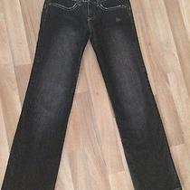 Like New Ladies Element Skate Jeans Size 8 Black Straight Leg Pants Surf Wear Photo