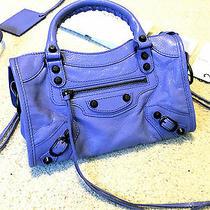 Like New Rare Balenciaga Mini City Mauve Purple Handbag Shoulder Bag 100% Auth Photo