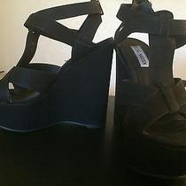 Like New Steve Madden Black Wedges Sz. 7.5 Photo