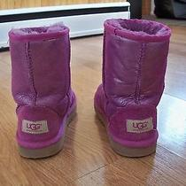 Like New Uggs Purple Glitter Size 2 Youth Photo