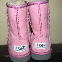 Like New Uggs Toddler Pink Suede Boots Size 10 Euc Photo