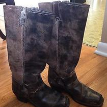 Like New Women's Brown Frye Boots Harness 15r - Size 7 Photo