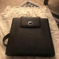 Likenewwomens Bvlgari Bvlgari Black Leather Backpack Turnlock Photo