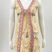 Lilka Anthropologie Womens Sundress Xs Yellow 100% Cotton Sleeveless v-Neck  Photo