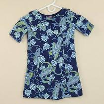 Lilly Pulitzer a Line Dont Be Koi Fish Blue Knit Pockets Dress Girls Small S Photo