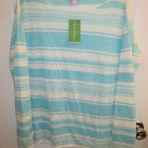 Lilly Pulitzer Alana Sweater in Breakwater Blue Coconut Row Stripe - L - Nwt  Photo