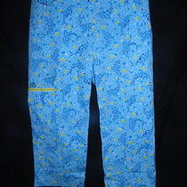 Lilly Pulitzer Aqua Blue Mosaic Dolphin Crop Pants Capris Women's 10 Euc Photo