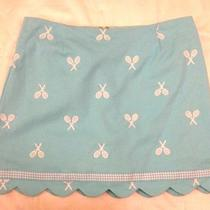 Lilly Pulitzer Aqua Embroidered Tennis Racquet Skirt Womens Size 6 Photo