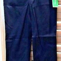 Lilly Pulitzer Baley Capri Pants Palm Beach Fit Solid Street True Navy Sz 0 158 Photo