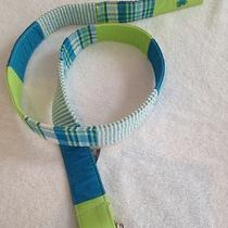 Lilly Pulitzer Belt S Green Turquoise D-Ring Adjustable Photo