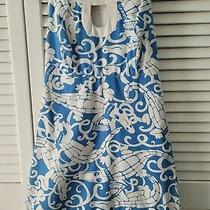 Lilly Pulitzer Blue Cotton Alligator Dress Size 0 Rare Spring Summer Sundress Photo