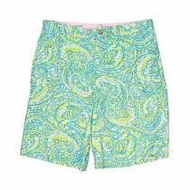 Lilly Pulitzer Boys Blue Khaki Shorts 12 Photo