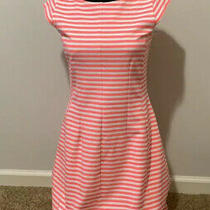 Lilly Pulitzer Briella Stripe Fit and Flare Dress Pink White Sz Medium Photo