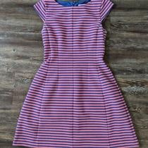 Lilly Pulitzer Brielle Fit & Flare Pink Blue Striped Dress Size Xs Photo