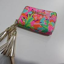 Lilly Pulitzer Call Me Wallet Lulu Flamingo Happy Bright Colors Zip Around  Photo