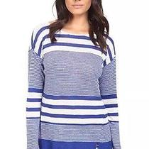 Lilly Pulitzer Camilla Sweater Bomber Blue Exotic Striped- Size Xs- 98 Nwt Photo