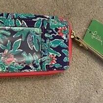 Lilly Pulitzer Carded Id Smart Phone Wristlet Style  90216 Bright Navy Photo