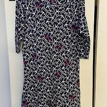 Lilly Pulitzer Cassie Blue Bright Navy Ahoy There T Shirt Dress M Medium Photo