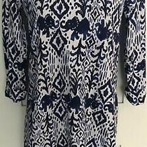Lilly Pulitzer Casual Dress Xs Cotton 3/4 Sleeve Gold Button Round Neck Photo