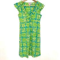 Lilly Pulitzer Clare Dress Silk Blend Green Blue Size Xs Photo