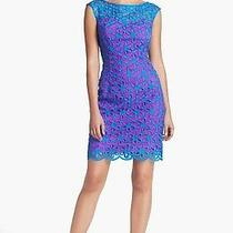 Lilly Pulitzer Daisy Floral Eyelet Lace Embroid Sz 2 4 Selna Royce Blue Dress  Photo