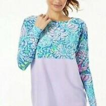 Lilly Pulitzer Finn Top Purple Floral in Full Bloom Size Medium Nwt Photo