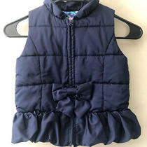 Lilly Pulitzer Girl's Navy Blue Puffer Vest Jacket Coat Size Medium 6/7 Photo