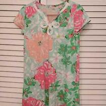Lilly Pulitzer Girls Cotton Short Sleeve Dress Size S (4-5) Photo