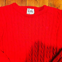 Lilly Pulitzer Girls Red Cable Sweater- Size 12- 48 Retail Photo