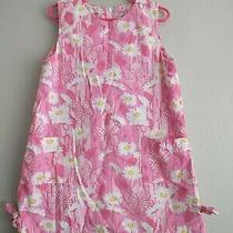 Lilly Pulitzer Girls Spring Summer Dress Pink White Yellow Size 6 Photo