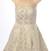 Lilly Pulitzer Gold/beige 0/2 Formal Summer Dress Short Strapless Cocktail Silk Photo