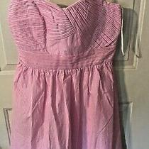 Lilly Pulitzer Gorgeous Addison Dress Pink Tropics Seersucker Size 10 Nwt 218 Photo