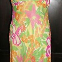 Lilly Pulitzer Halter Dress Gianna 6 Green Resort  Flowers Bright Colors Photo