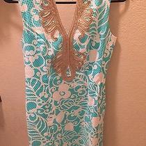 Lilly Pulitzer Janice Shift Dress Tiffany Blue Size 2 Photo