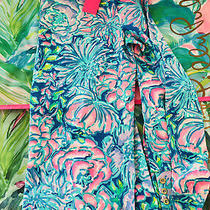 Lilly Pulitzer Large Aleah Boat Top Long Sleeve Shirt in Full Bloom Cotton Nwt Photo