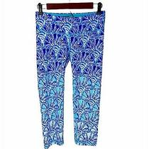 Lilly Pulitzer Legging Luxletic Sz Small Crop Weekender One of Kind Blue Floral  Photo