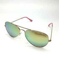 Lilly Pulitzer Lexy Aviator Sunglasses Coco Coral Crab Pink Print Gold Frame New Photo