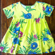Lilly Pulitzer Minnie Yellow Floral Cottton Knit Print Ss Dress- Size 3t- 52 Photo