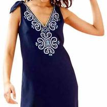 Lilly Pulitzer Navy Blue Penelope Shift Dress Photo