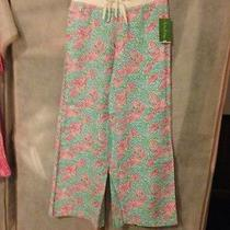 Lilly Pulitzer Nwt Beach Pant in Lobstah Roll Sold Out Medium Free Shipping Photo