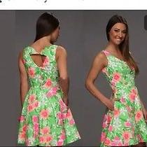 Lilly Pulitzer Nwt Freja New Green Everything Nice Floral Print Dress 10 188 Photo