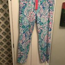 Lilly Pulitzer Nwt Kelly High Rise Knit Skinny Ankle Pant Full Bloom 16 Photo
