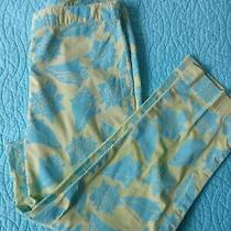 Lilly Pulitzer Pant Size 4. Seashell Motiff. Green and Blue. Euc. Photo