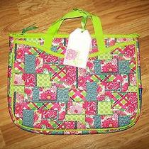 Lilly Pulitzer Patchwork Neoprene Laptop Tote Sleeve Case W/ Handles New W/tags Photo