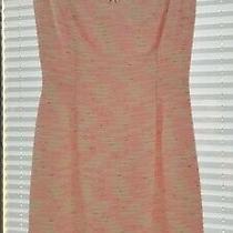 Lilly Pulitzer Pink Blush White and Gold Sheath Boucle Dress Size 0 Photo