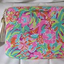 Lilly Pulitzer Pink Flamingo Lulu Clutch Double as Tech & Other Stuff Nwts Photo